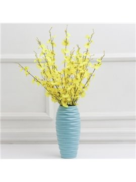 Modern Blue Ceramics Flower Vases for Home Decoration