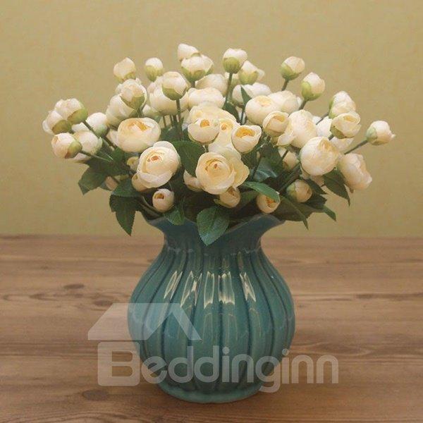 Blue Mediterranean Sea Flower Vases for Home Decoration