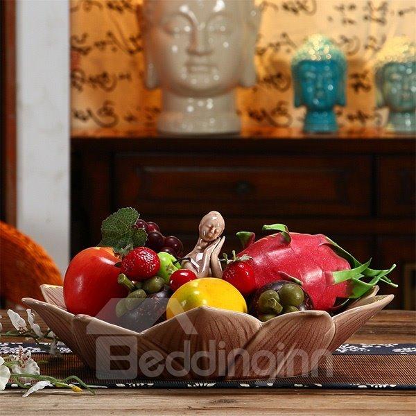 Modern Creative Beautiful Girl Fruit Dish Desktop Decoration