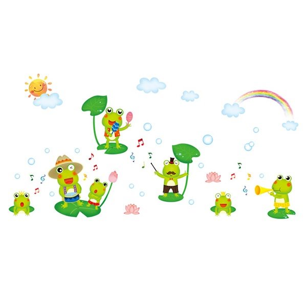 Simple Cute Frog Wall Stickers for Children Room Decoration