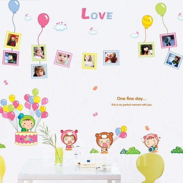 Amazing LOVE and Balloon Wall Sticker for Children Room Decoration