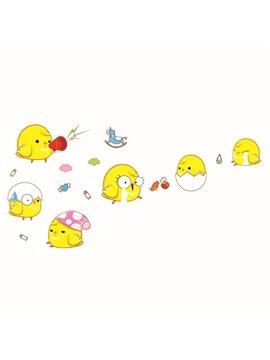 Cute Sad Chicken Wall Stickers for Home Decoration