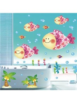 Cute Fat Big Head Glasses Wall Stickers for Home Decoration