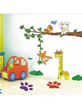 Cute Giraffe and Rabbit Wall Stickers for Kids Room Decoration