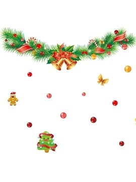 Simple Christmas Tree Wall Stickers for Home Decoration