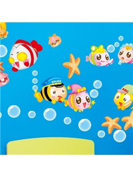 Cute Bubbles and Fishes Wall Stickers for Home Decoration