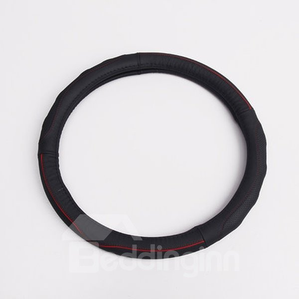 Classic Business And Sport Style PU Material Steering Wheel Cover