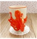 Creative Hand Painted Couple Octopus and Starfish Cups