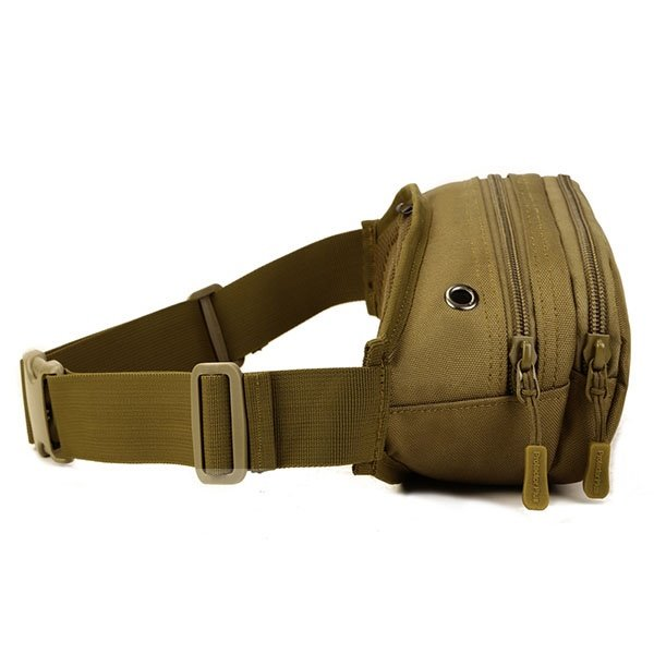 Slim Bag with Zipper Outdoor Camping Running Hiking Trekking Waist Bag