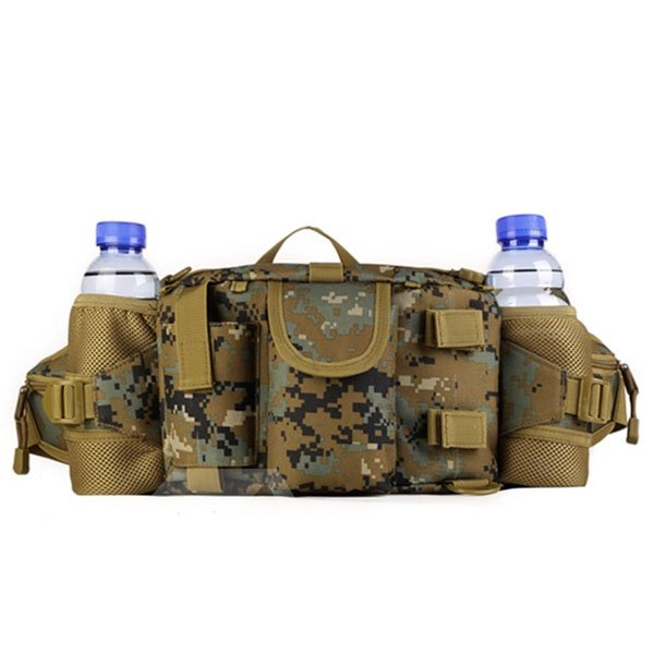 Outdoor Deployment Bag with Double Bottle Holder Water Resistant Running Bag