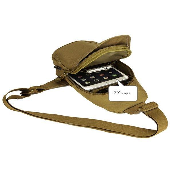 Simple Style Single Shoulder Unbalance Satchel Outdoor Trekking Daypack