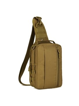 Single Shoulder Outdoor Square Backpack with Zipper Daypack