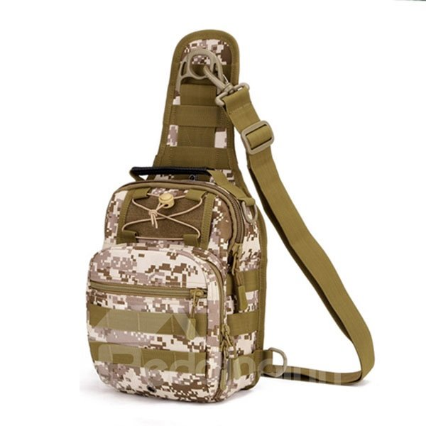 Nylon Fabric Shoulder Sling Unbalance Satchel Outdoor Sports Bag