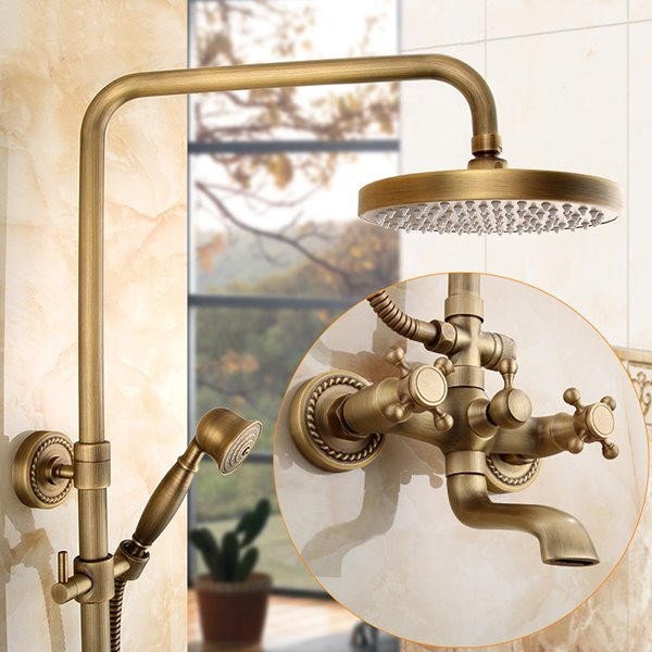 European Style Antique Brass Thermostatic Shower Heads