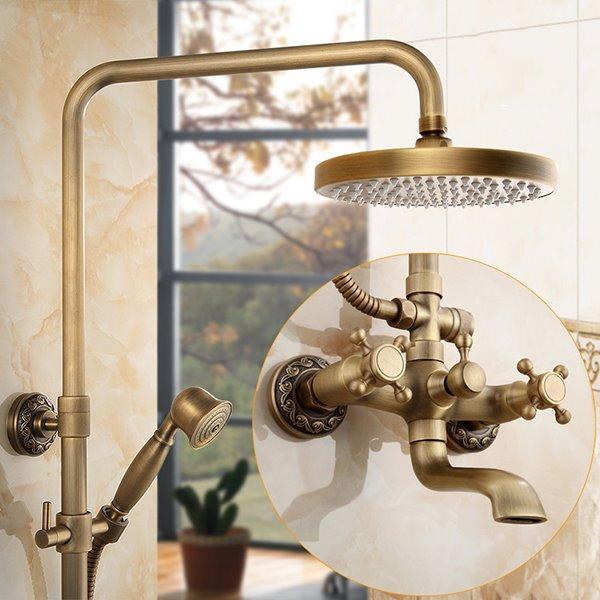 Antique Brass Bathroom Set Shower Heads