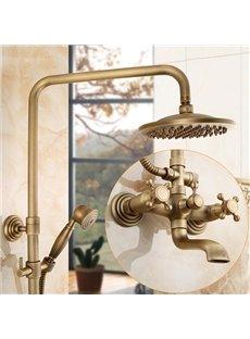 Round Shape Brass Material European Style Bathroom Shower Heads