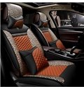 Stylish Design With Leopard And Diamond Trimmings Leatherette Universal Car Seat Covers