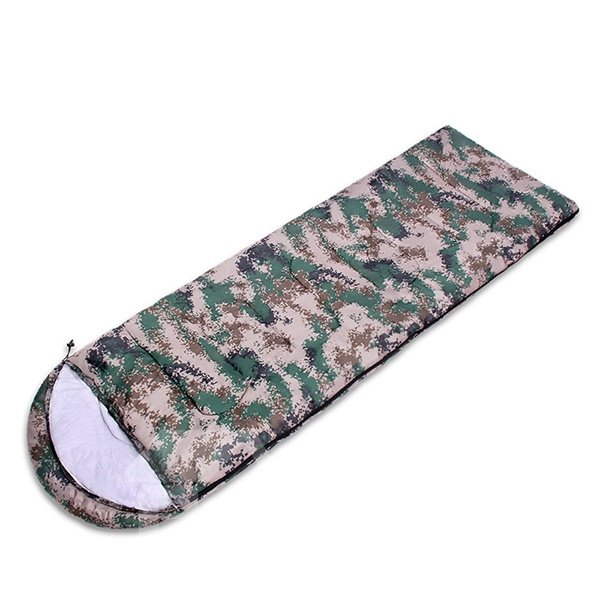Camouflage Attachable Ultralight Tapered Rectangular Portable Camping Outdoor Envelope Sleeping Bag
