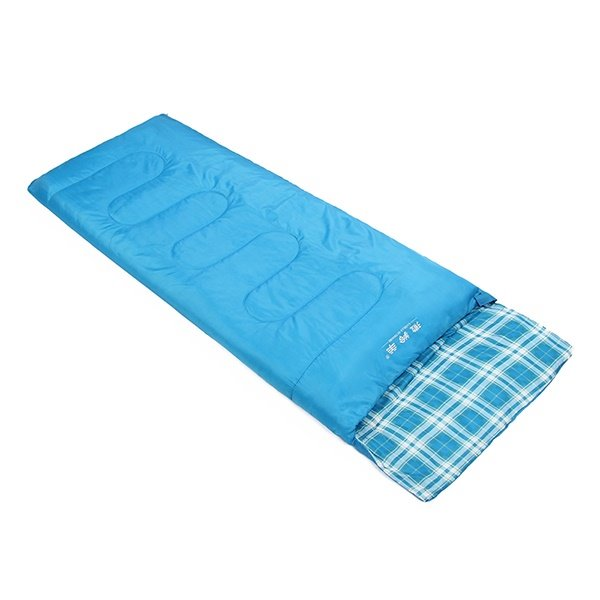Attachable Plaid Rectangular Outdoor Portable Camping Hiking Traveling Sleeping Bag