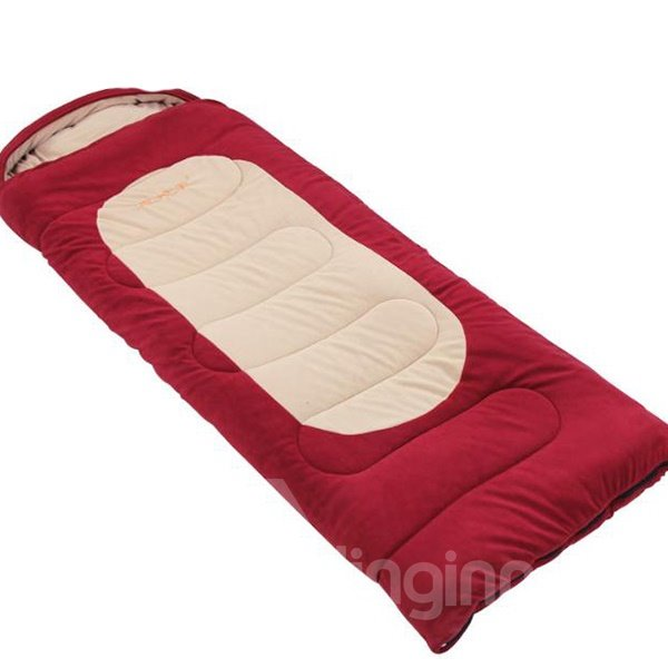 Attachable Tapered Rectangular Warm Couple Envelope Outdoor Camping Hiking Sleeping Bag