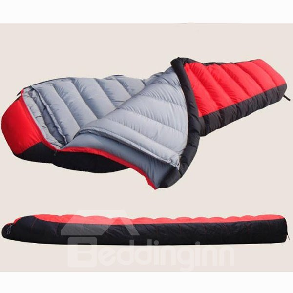 Portable Warm Attachable Mummy Camping Hiking Traveling Couple Sleeping Bag
