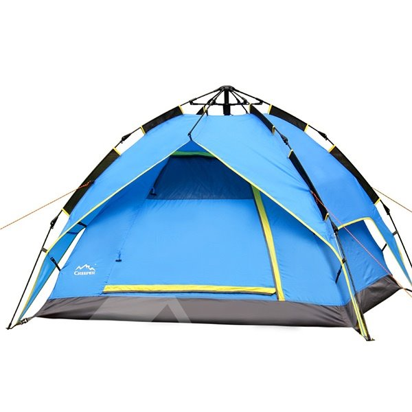 2 Person Double Layers Instant Fiberglass Polyester Tent with Rainfly Camping Tent