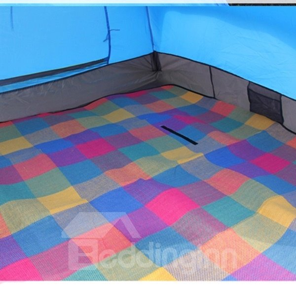 3-4 Person One Bedroom Instant Fiberglass Skeleton Tent with Rainfly Camping Tent
