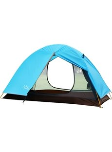 2 Person Light Blue One Bedroom Fiberglass Skeleton Outdoor Camping Hiking Tent