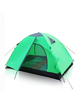 2 Person 2 Bedroom Fiberglass Screened Outdoor Camping Hiking Trekking Tent