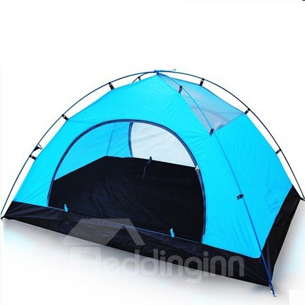 2 Person 2 Bedroom Fiberglass Screened Outdoor Camping Hiking Trekking Tent
