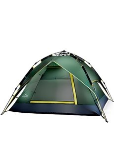 2 Person Screened Instant Tent with Rainfly Fiberglass Skeleton Camping Tent