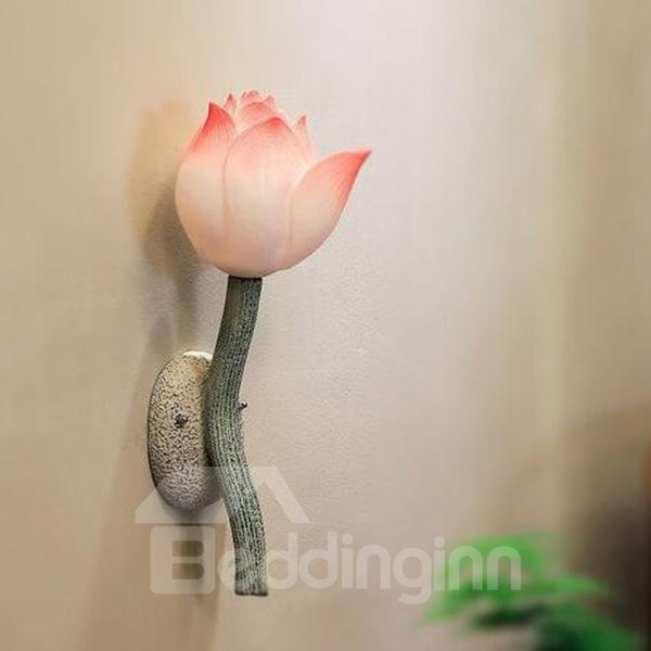 Modern Creative Lotus LED Resin Wall Light