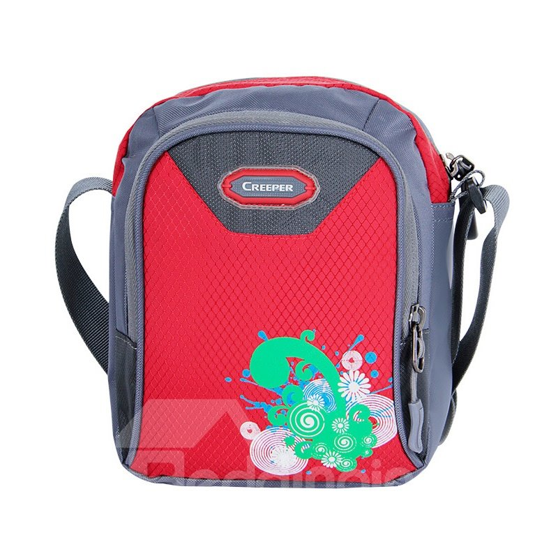 Bright Color Unisex Vector Print Flower Outdoor Camping Hiking Sports Waist Bag