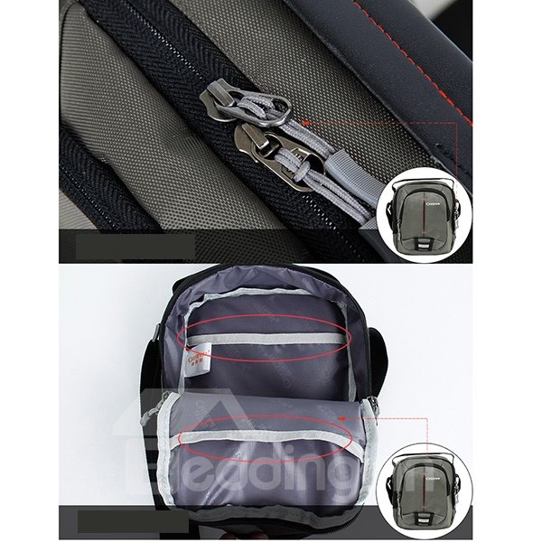 Gray Square Multifunctional Outdoor Camping Hiking Traveling Nylon Waist Bag Daypack