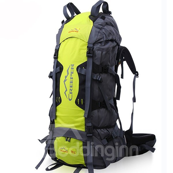 70L Outdoor High Capacity Nylon Camping Hiking Traveling Backpack