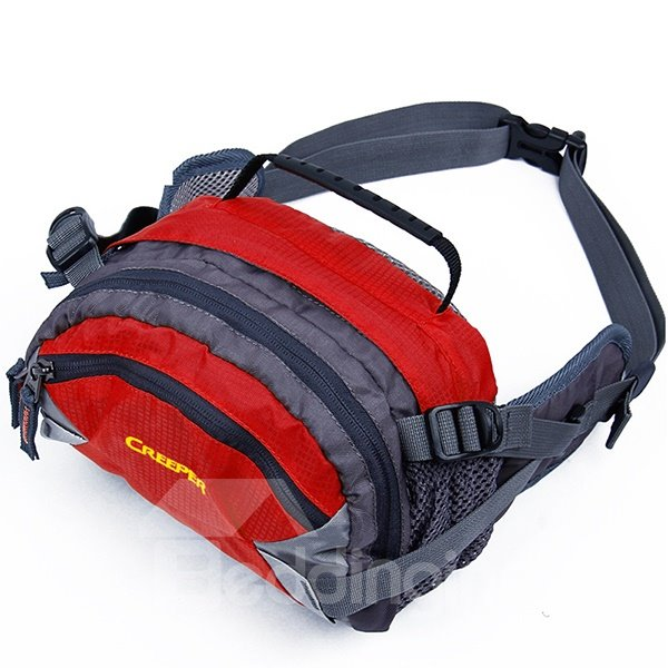 Outdoor Multifunctional Sports 3 Zipper Pockets Waist Bag Funny Chest Pack
