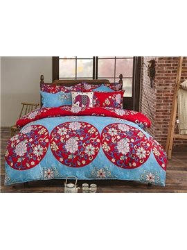 Fantastic Lightweight Microfiber Exotic Pattern 4-Piece Duvet Cover Sets