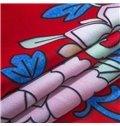 Fantastic Lightweight Microfiber Exotic Pattern 4-Piece Duvet Cover Sets