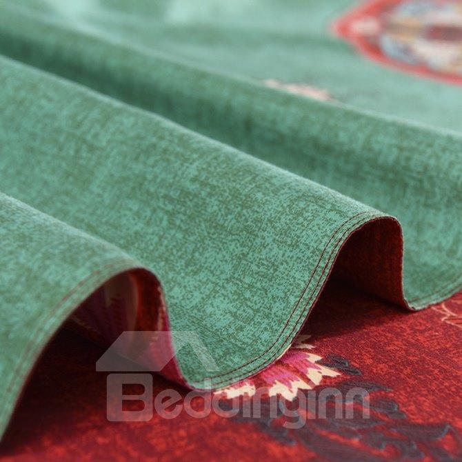 Popular Lightweight Microfiber Bohemia Pattern 4-Piece Duvet Cover Sets