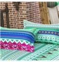 Fresh Green Exotic Pattern Polyester 4-Piece Duvet Cover Sets