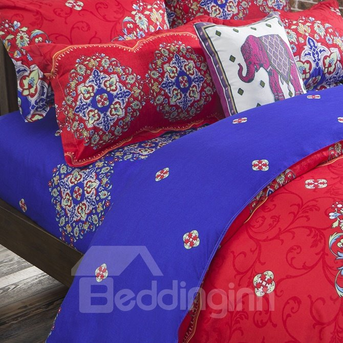 Glamorous Beautiful Exotic Pattern Polyester 4-Piece Duvet Cover Sets