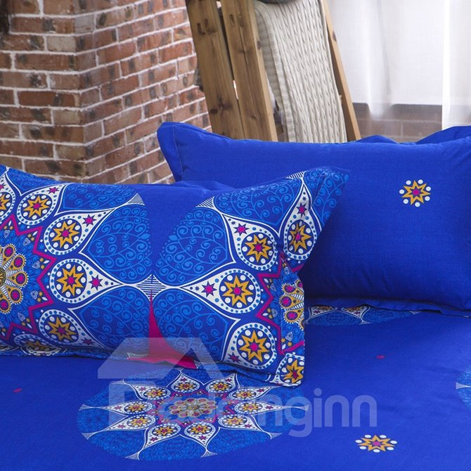 Stylish Bright Color Ethnic Pattern Polyester 4-Piece Duvet Cover Sets
