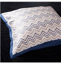 Water Ripple Pattern and Zebra Embroidery 4-Piece Cotton Duvet Cover Sets