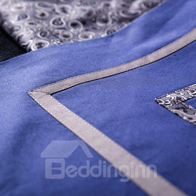 European Style Pure Cotton Embroidery 4-Piece Duvet Cover Sets