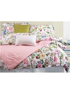 Pastoral Style Adorable Flowers Design 4-Piece Cotton Duvet Cover Sets