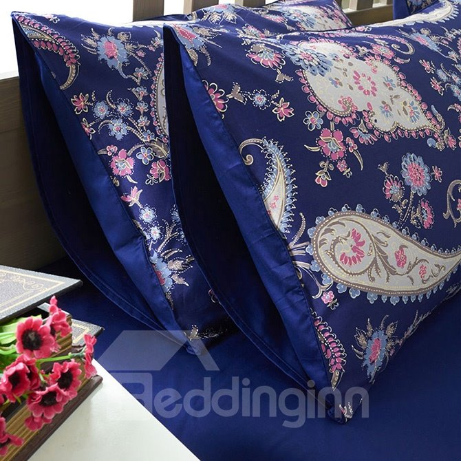 Unique Personality Pattern Purple 4-Piece Cotton Bedding Sets