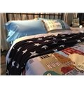 Western Style Elk and Castle Print 4-Piece Cotton Bedding Sets