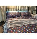 Fancy Cartoon Guitar Print 4-Piece Cotton Bedding Sets/Duvet Cover