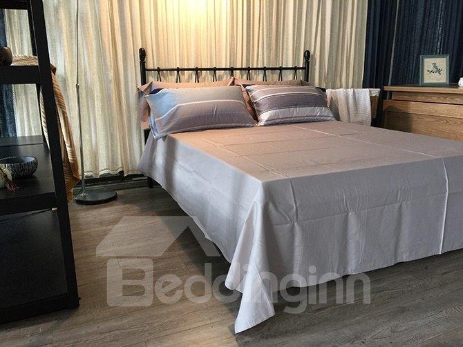 New Classical Stripe Design 4-Piece Cotton Duvet Cover Sets