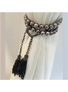 Fashion Black Beads Decorative Curtain Tiebacks